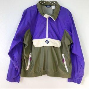 VTG Woolrich Sigmet Gear Colorblock Half Zip Pullover Windbreaker Jacket Unisex